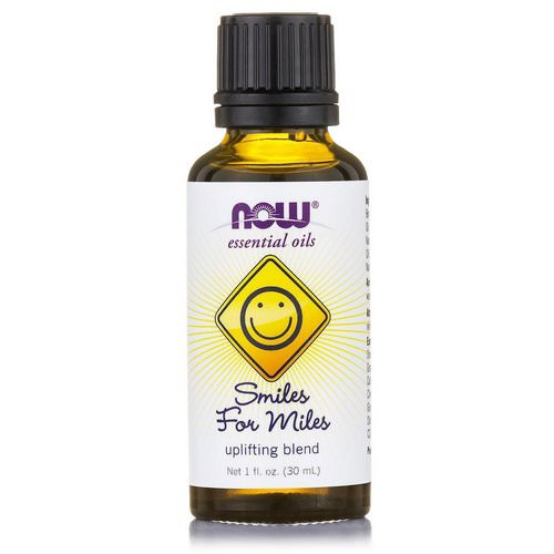 Now Foods, Essential Oils, Smiles for Miles, Uplifting Blend, 1 fl oz (30 ml) Review