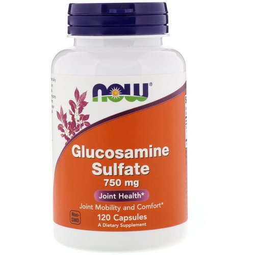 Now Foods, Glucosamine Sulfate, 750 mg, 120 Capsules Review