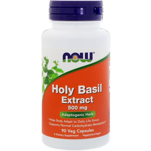 Now Foods, Holy Basil Extract, 500 mg, 90 Veg Capsules Review