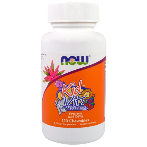 Now Foods, Kid Vits, Berry Blast, 120 Chewables Review