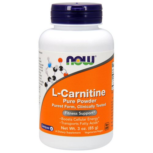Now Foods, L-Carnitine, Pure Powder, 3 oz (85 g) Review