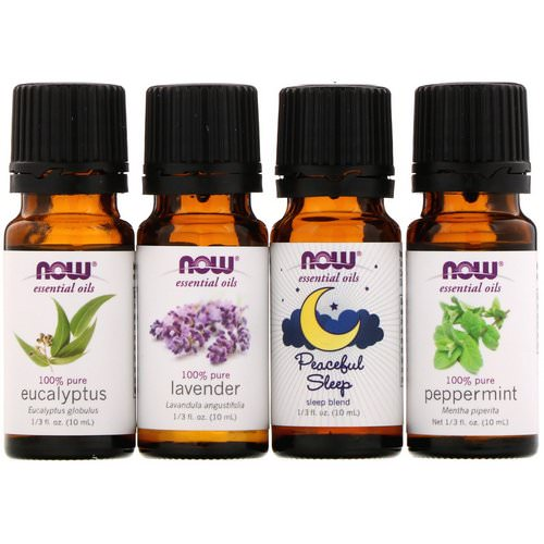 Now Foods, Let There Be Peace & Quiet, Relaxing Essential Oils Kit, 4 Bottles, 1/3 fl oz (10 ml) Each Review