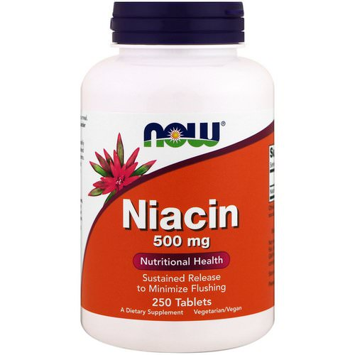 Now Foods, Niacin, 500 mg, 250 Tablets Review