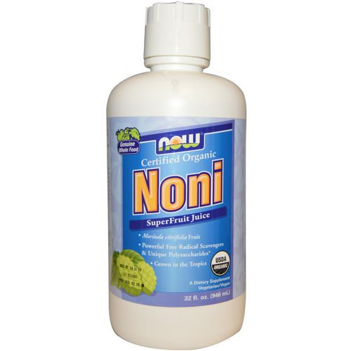 Now Foods, Organic, Noni, SuperFruit Juice, 32 fl oz (946 ml) Review
