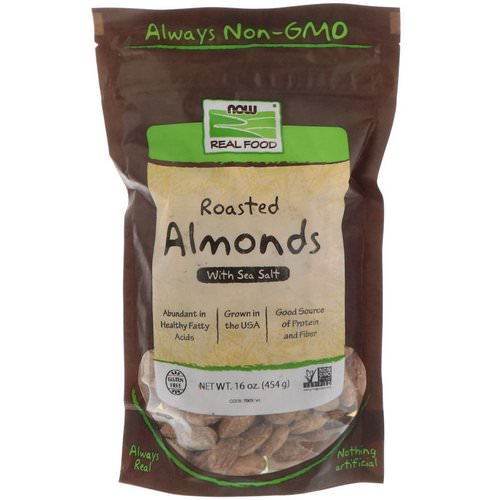 Now Foods, Real Food, Roasted Almonds, with Sea Salt, 16 oz (454 g) Review