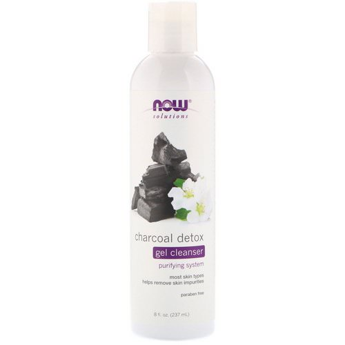 Now Foods, Solutions, Charcoal Detox Gel Cleanser, 8 fl oz (237 ml) Review