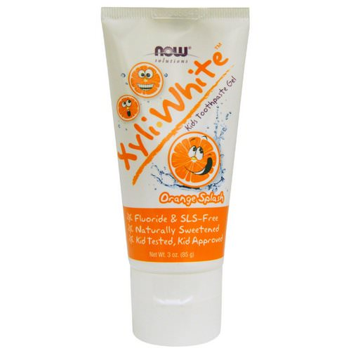 Now Foods, Solutions, XyliWhite, Kids Toothpaste Gel, Orange Splash, 3 oz (85 g) Review