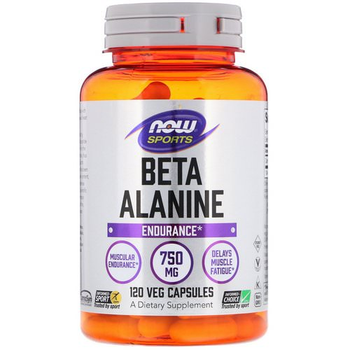 Now Foods, Sports, Beta-Alanine, Endurance, 750 mg, 120 Veg Capsules Review