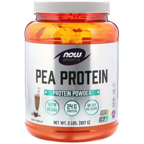 Now Foods, Sports, Pea Protein, Creamy Chocolate, 2 lbs (907 g) Review