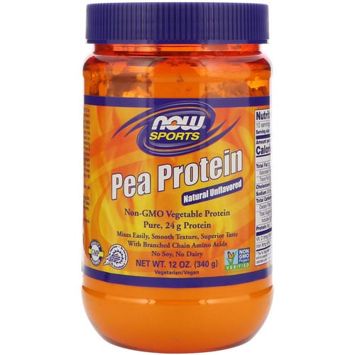 Now Foods, Sports, Pea Protein, Natural Unflavored, 12 oz (340 g) Review