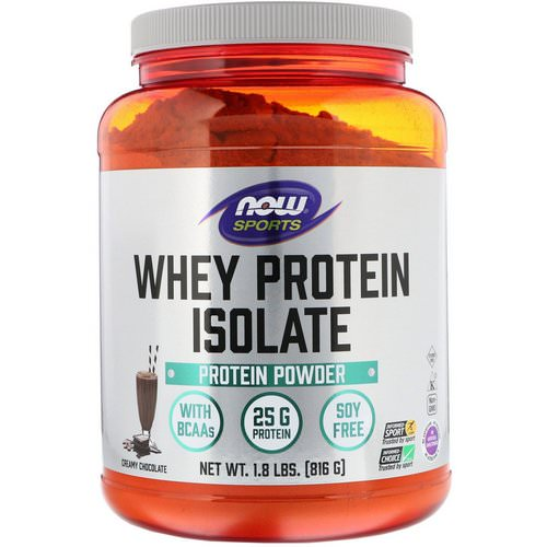 Now Foods, Sports, Whey Protein Isolate, Creamy Chocolate, 1.8 lbs (816 g) Review
