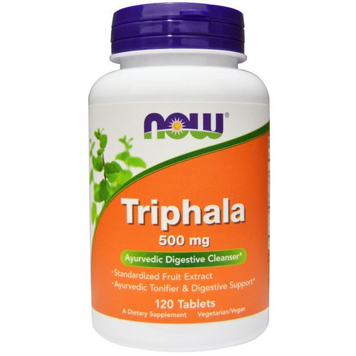 Now Foods, Triphala, 500 mg, 120 Tablets Review