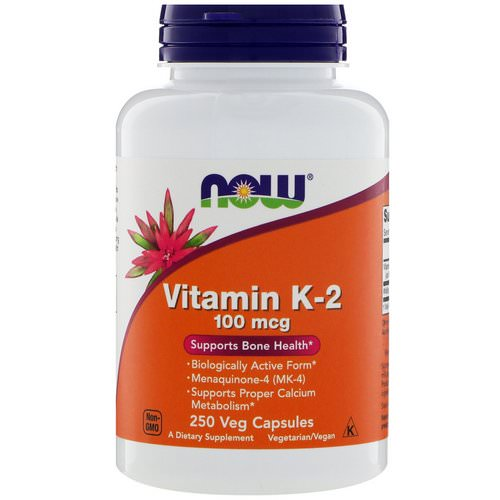 Now Foods, Vitamin K-2, 100 mcg, 250 Veg Capsules Review