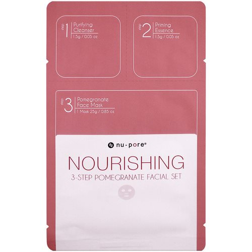 Nu-Pore, Nourishing 3-Step Pomegranate Facial Set, 1 Pack Review