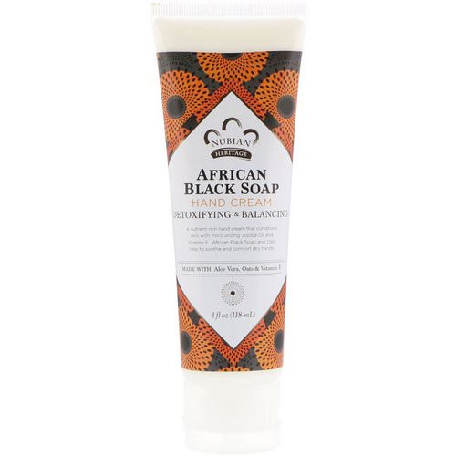 Nubian Heritage, Hand Cream, African Black Soap, 4 fl oz (118 ml) Review