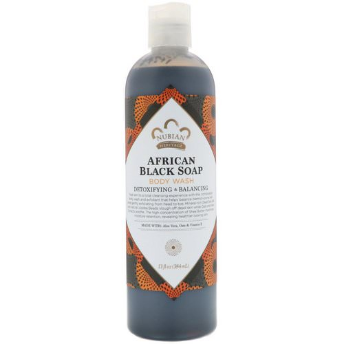 Nubian Heritage, Body Wash, African Black Soap, 13 fl oz (384 ml) Review