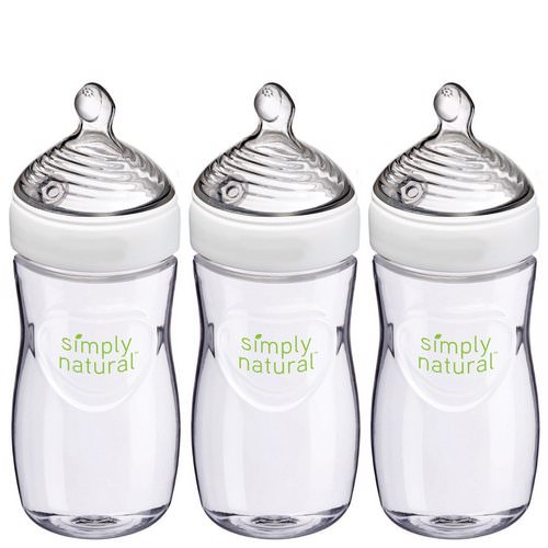 NUK, Simply Natural, Bottles, 1+ Months, Medium, 3 Pack, 9 oz (270 ml) Each Review