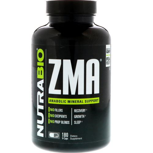 NutraBio Labs, ZMA, 180 Vegetable Capsules Review