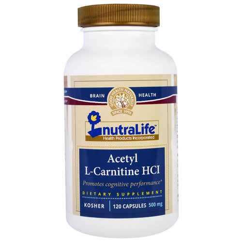 NutraLife, Acetyl L-Carnitine HCI, 500 mg, 120 Capsules Review