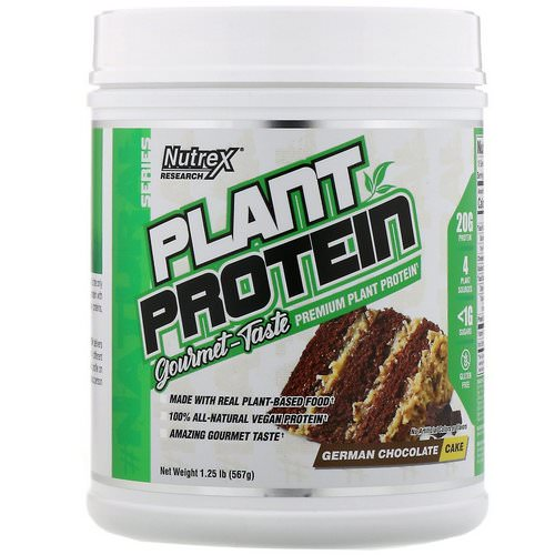 Nutrex Research, Natural Series, Plant Protein, German Chocolate Cake, 1.25 lb (567 g) Review