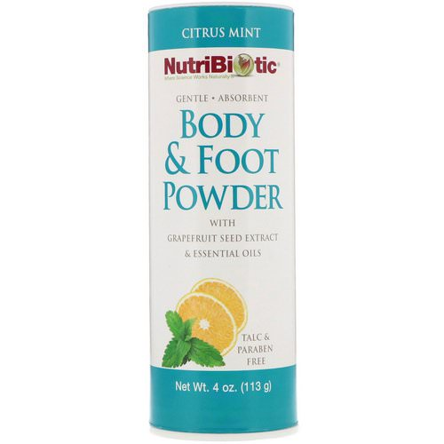 NutriBiotic, Body & Foot Powder with Grapefruit Seed Extract & Essential Oils, Citrus Mint, 4 oz (113 g) Review