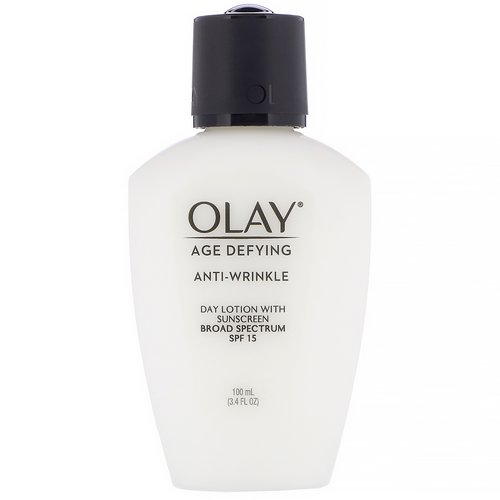 Olay, Age Defying, Anti-Wrinkle, Day Lotion with Sunscreen, SPF 15, 3.4 fl oz (100 ml) Review