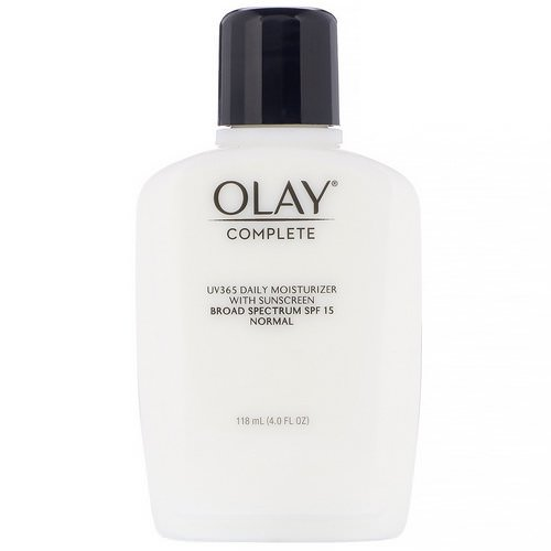 Olay, Complete, UV365 Daily Moisturizer, SPF 15, Normal, 4.0 fl oz (118 ml) Review