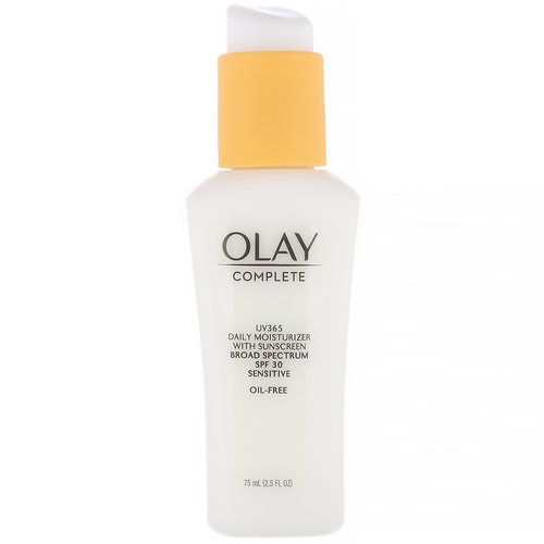 Olay, Complete, UV365 Daily Moisturizer, SPF 30, Sensitive, 2.5 fl oz (75 ml) Review