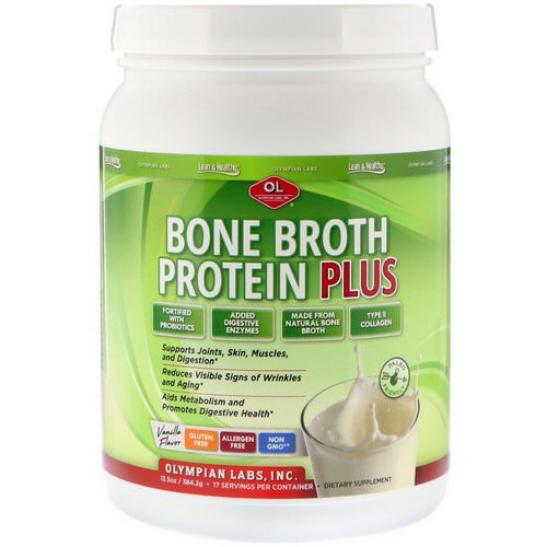Olympian Labs, Bone Broth Protein Plus, Vanilla Flavor, 13.5 oz (384.2 g) Review