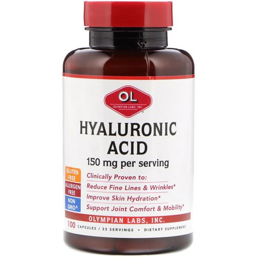 Olympian Labs, Hyaluronic Acid, 150 mg, 100 Capsules Review