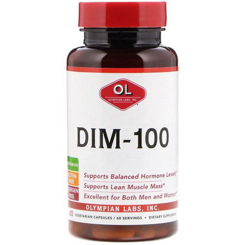 Olympian Labs, DIM-100, 60 Vegetarian Capsules Review