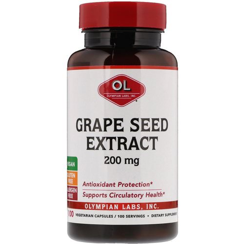 Olympian Labs, Grape Seed Extract, 200 mg, 100 Vegetarian Capsules Review