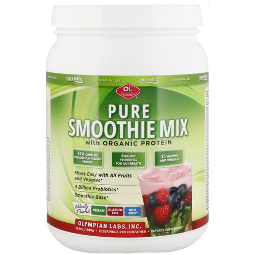 Olympian Labs, Pure Smoothie Mix with Organic Protein, Naturally Flavored, 18.9 oz (480 g) Review