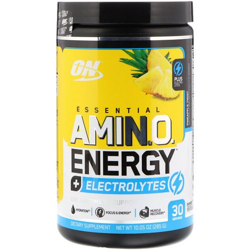 Optimum Nutrition, Essential Amin.O. Energy + Electrolytes, Pineapple Twist, 10.05 oz (285 g) Review