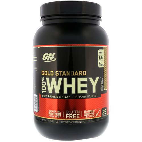 Optimum Nutrition, Gold Standard, 100% Whey, Chocolate Dipped Banana, 2 lb (907 g) Review