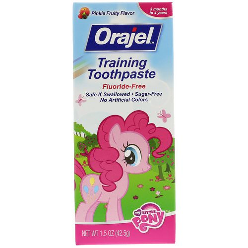 Orajel, My Little Pony Training Toothpaste, Flouride Free, Pinkie Fruity Flavor, 1.5 oz (42.5 g) Review