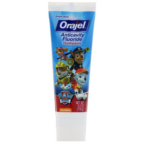 Orajel, Paw Patrol Anticavity Fluoride Toothpaste, Bubble Berry, 4.2 oz (119 g) Review