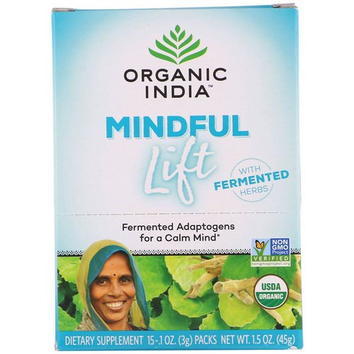Organic India, Mindful Lift, Fermented Adaptogens, 15 Packs, 0.1 oz (3 g) Each Review