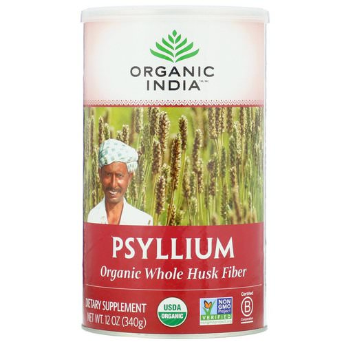 Organic India, Psyllium, Organic Whole Husk Fiber, 12 oz (340 g) Review