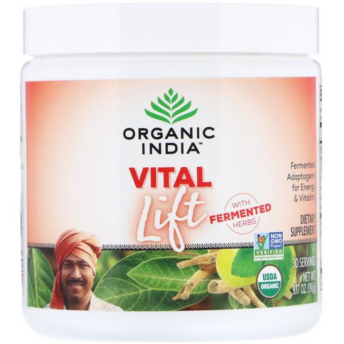 Organic India, Vital Lift, Fermented Adaptogens, 3.17 oz (90 g) Review