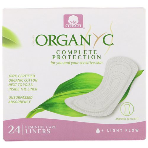 Organyc, Organic Cotton Folded Panty Liners, Light Flow, 24 Panty Liners Review
