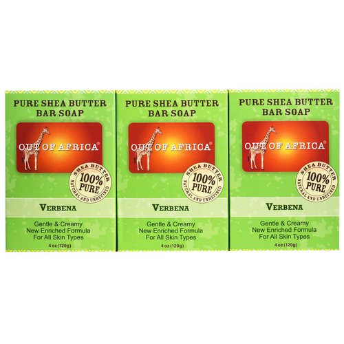 Out of Africa, Pure Shea Butter Bar Soap, Verbena, 3 Pack, 4 oz (120 g) Each Review