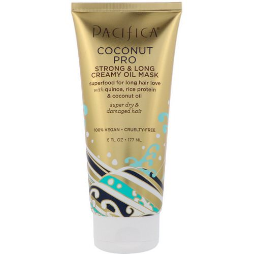 Pacifica, Coconut Pro, Strong & Long Creamy Oil Mask, 6 fl oz (177 ml) Review