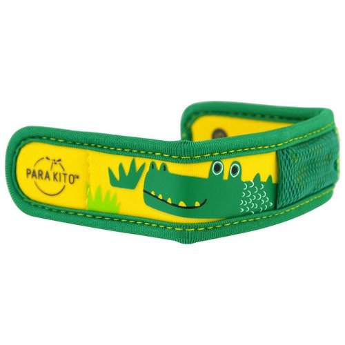 Para'kito, Mosquito Repellent Band + 2 Pellets, Kids, Crocodile, 3 Piece Set Review