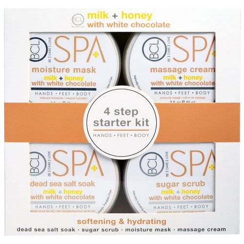 Petal Fresh, Spa, 4 Step Starter Kit, Softening & Hydrating, Milk + Honey with White Chocolate, 4 - 3 fl oz (85 ml) Each Review