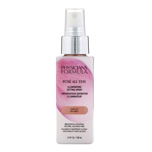 Physicians Formula, Rose All Stay, Illuminating Setting Spray, 3.4 fl oz (100 ml) Review