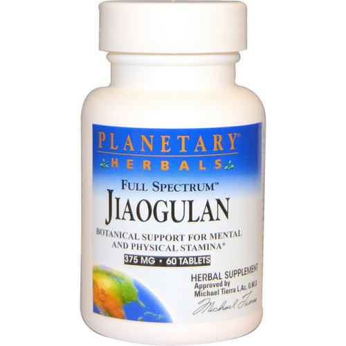 Planetary Herbals, Full Spectrum Jiaogulan, 375 mg, 60 Tablets Review