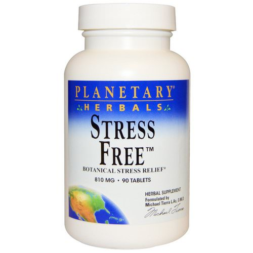 Planetary Herbals, Stress Free, Botanical Stress Relief, 810 mg, 90 Tablets Review