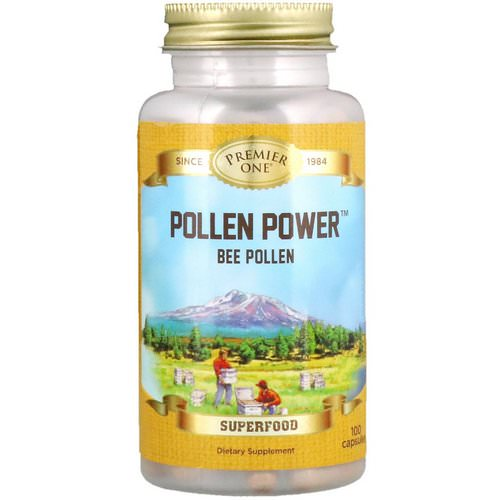 Premier One, Pollen Power Bee Pollen, 100 Capsules Review