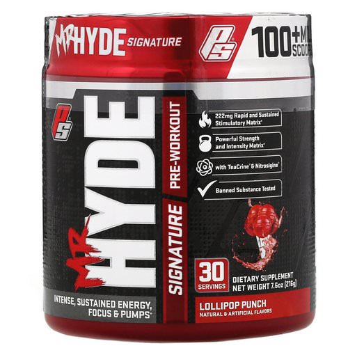 ProSupps, Mr. Hyde, Signature Pre Workout. Lollipop Punch, 7.6 oz (216 g) Review